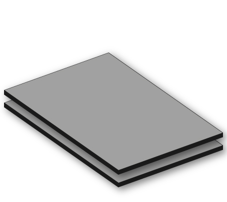 hpl aluminium ral 9006 6mm. Black Bedroom Furniture Sets. Home Design Ideas