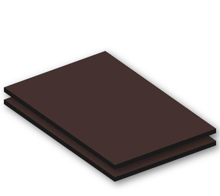 hpl donkerbruin ral 8014 6mm. Black Bedroom Furniture Sets. Home Design Ideas